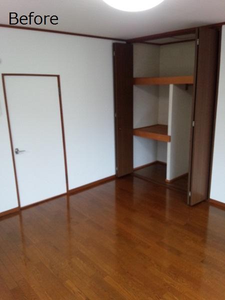 床材貼替でナチュラルな明るい空間に(賃貸アパート・リノベーション)