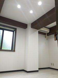 湿気・カビ対策と梁を活かした空間に(賃貸マンション・リノベーション)