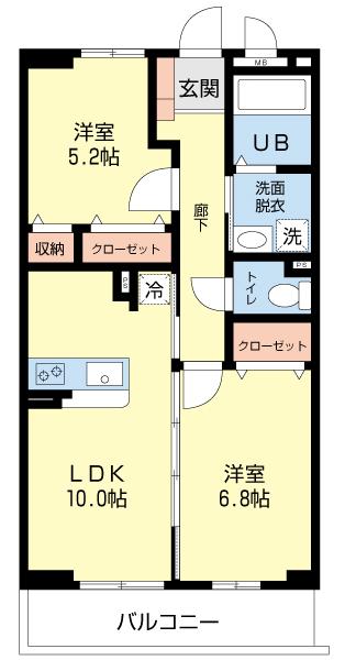間取り2LDK-フォレスト6
