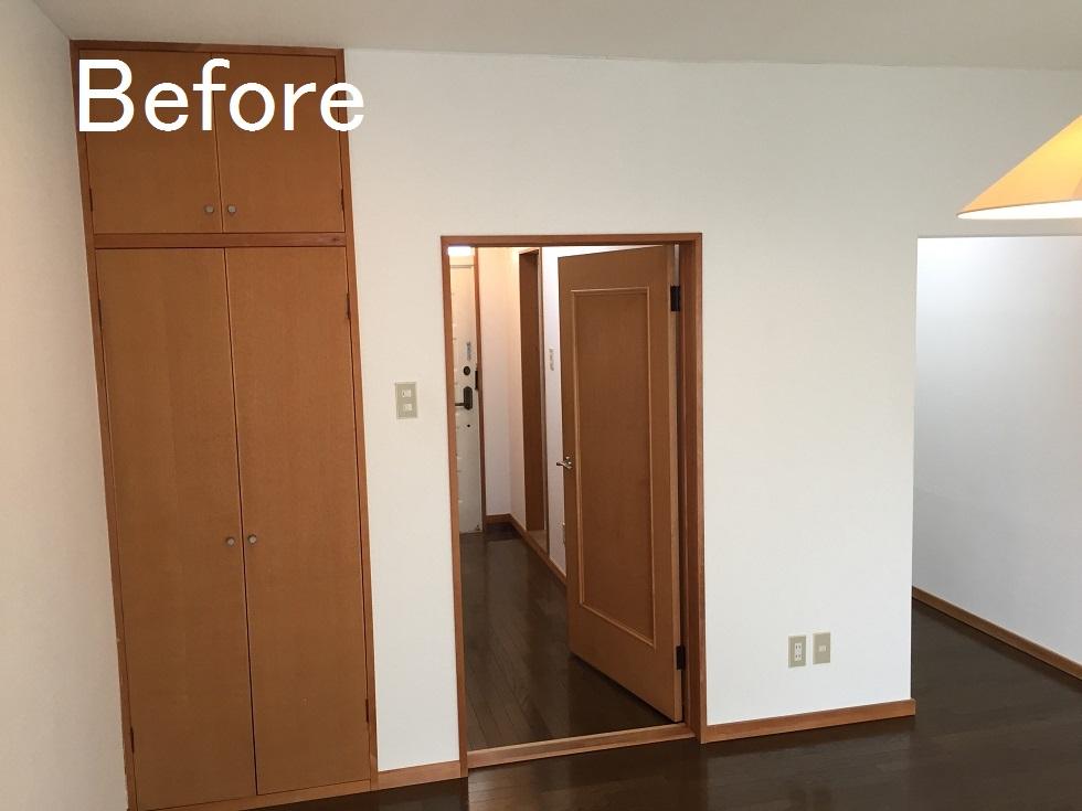 家具コーディネイトをしやすいお部屋に(賃貸アパート・リノベーション)