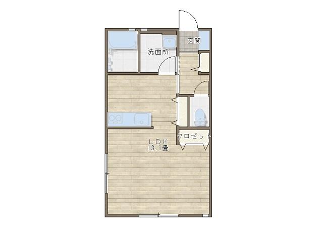 間取り図-関屋新築アパート