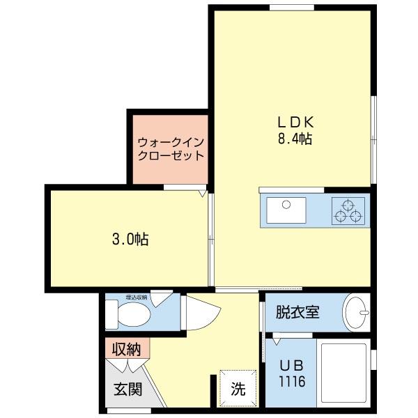 間取り-PRE沼垂東B104